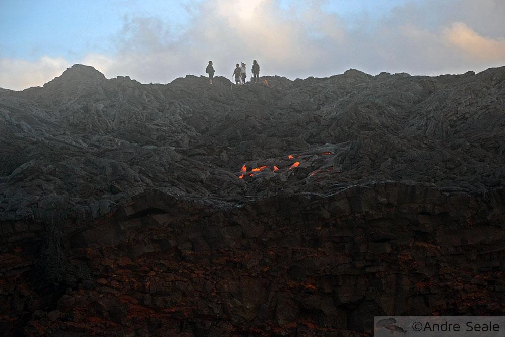 Trilha para ver a lava - Havaí