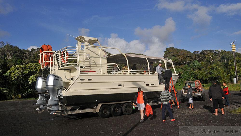 Barco para ver a lava