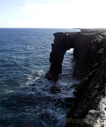 Arco de lava - Parque Nacional dos Vulcões do Havaí