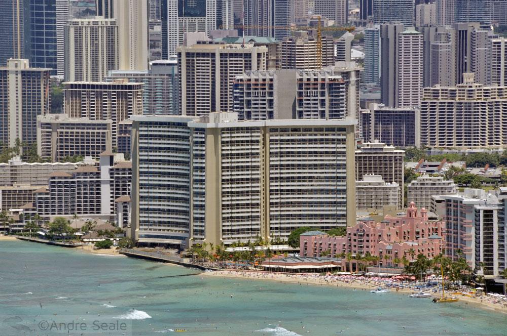Waikiki - Honolulu - Havaí -vista aérea