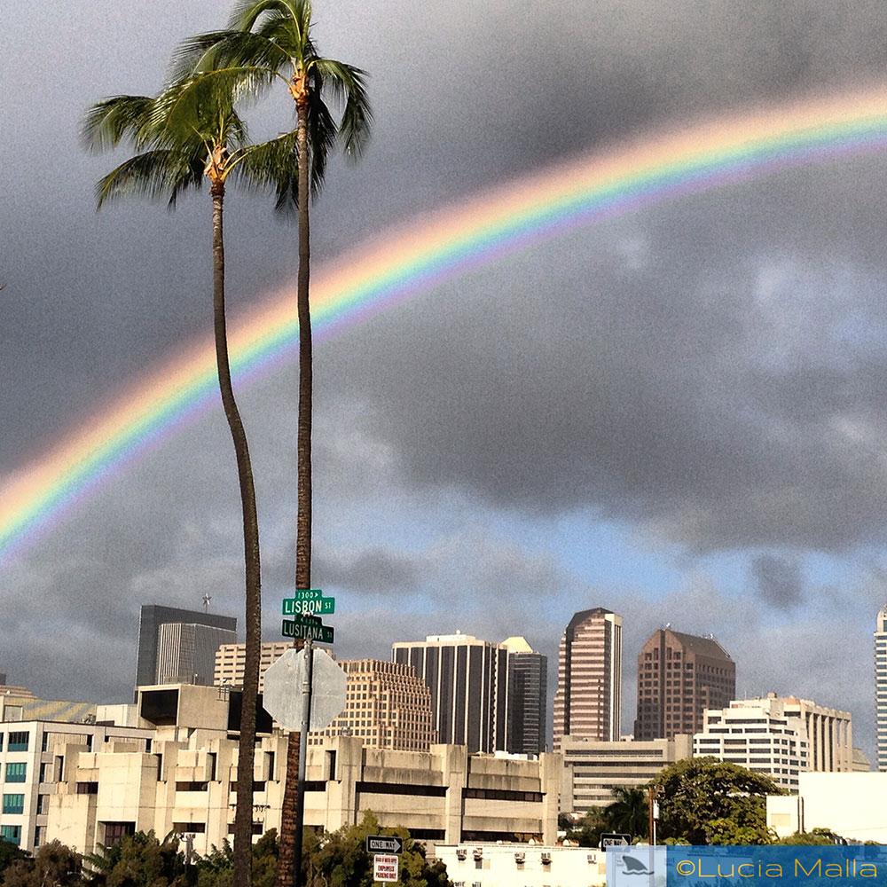Arco-íris em Honolulu
