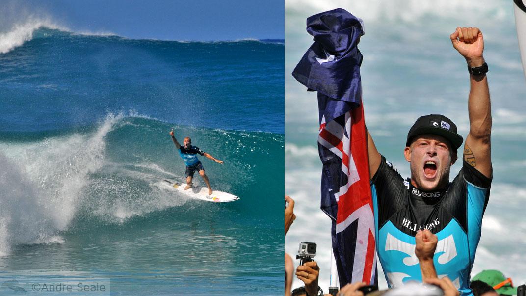 Surfista Mick Fanning - Campeão - campeonato mundial de surfe - Pipe Masters 2013 - North Shore de Oahu - Havaí