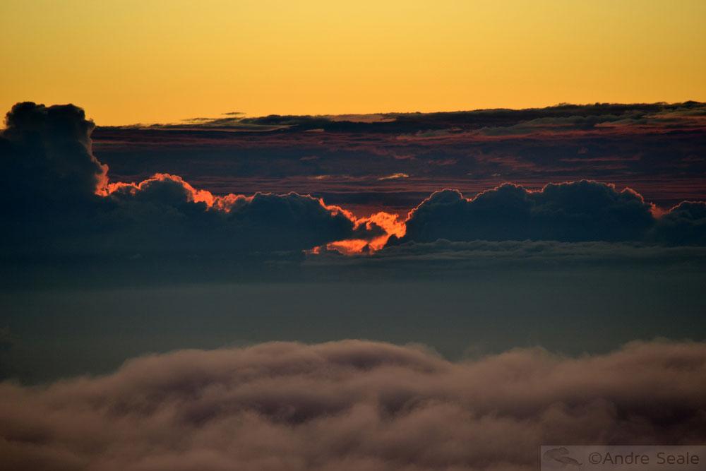 Nascer do sol Haleakala - som do silêncio