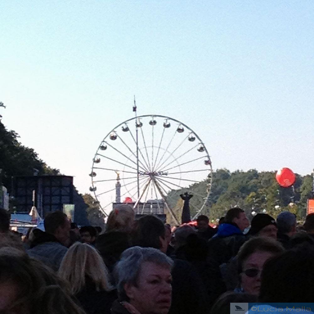 Roda gigante no Tiergarten - visita a Berlim