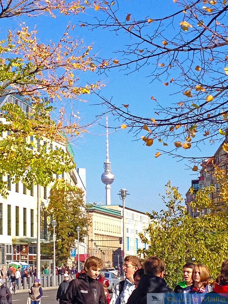 Torre de TV - Visita a Berlim no outono - Alemanha