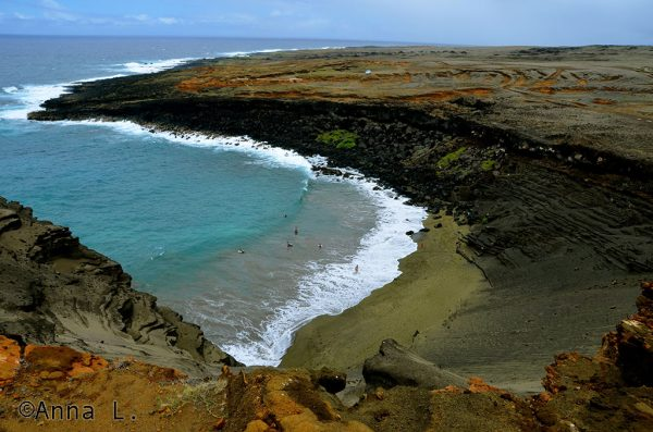 15 dias no Havaí da Anna - Green Sand beach