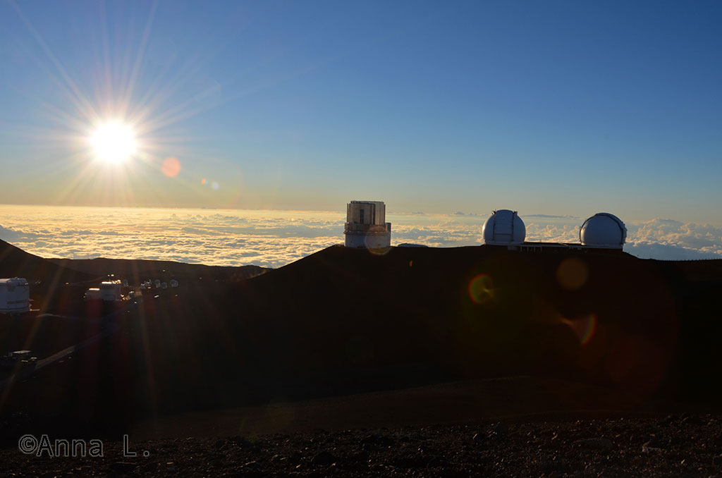 15 dias no Havaí da Anna - Por do sol no Mauna Kea