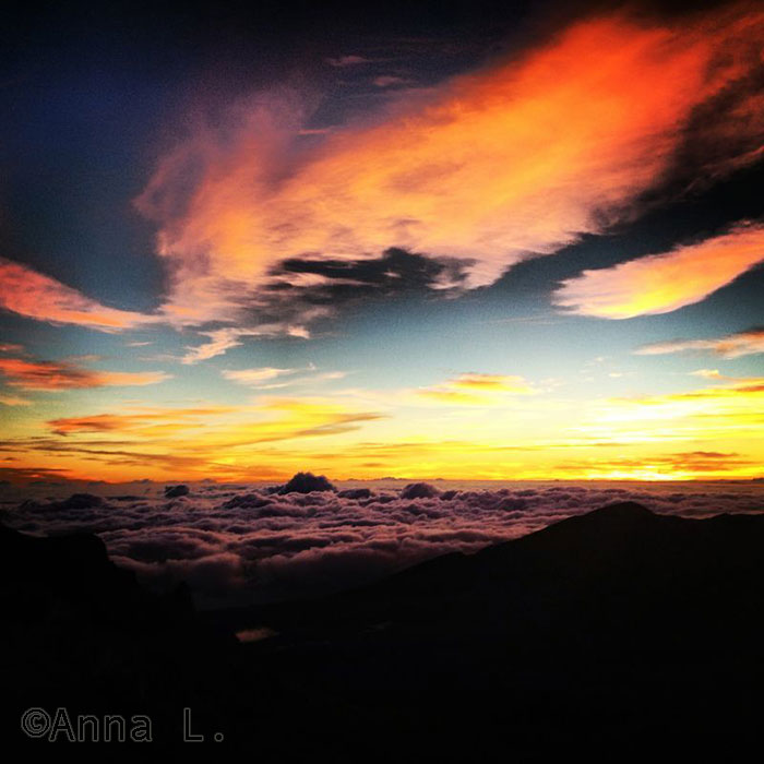 Nascer do sol - vulcão Haleakala - Maui