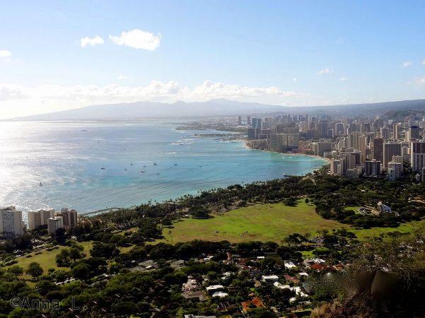 Waikiki - trilha do vulcão Diamond Head - Havaí