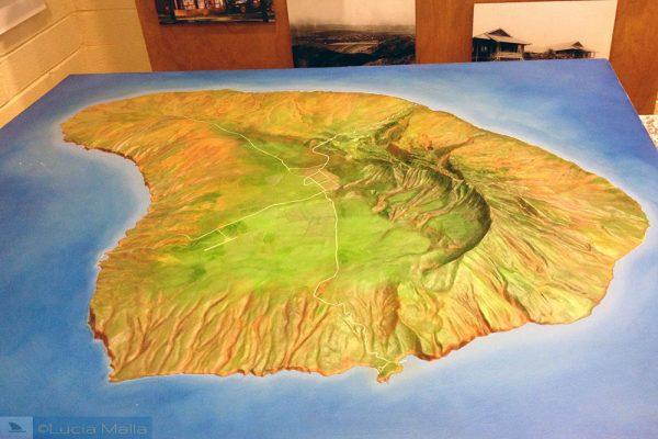 Maquete da ilha de Lanai