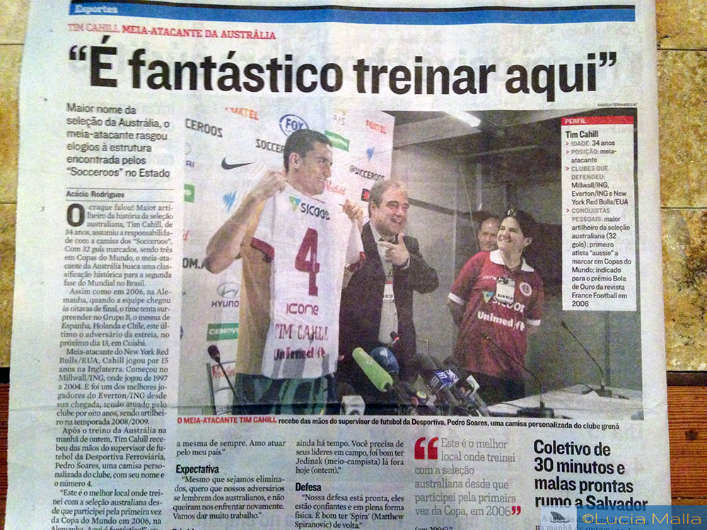 Minha Copa das Copas - no jornal local