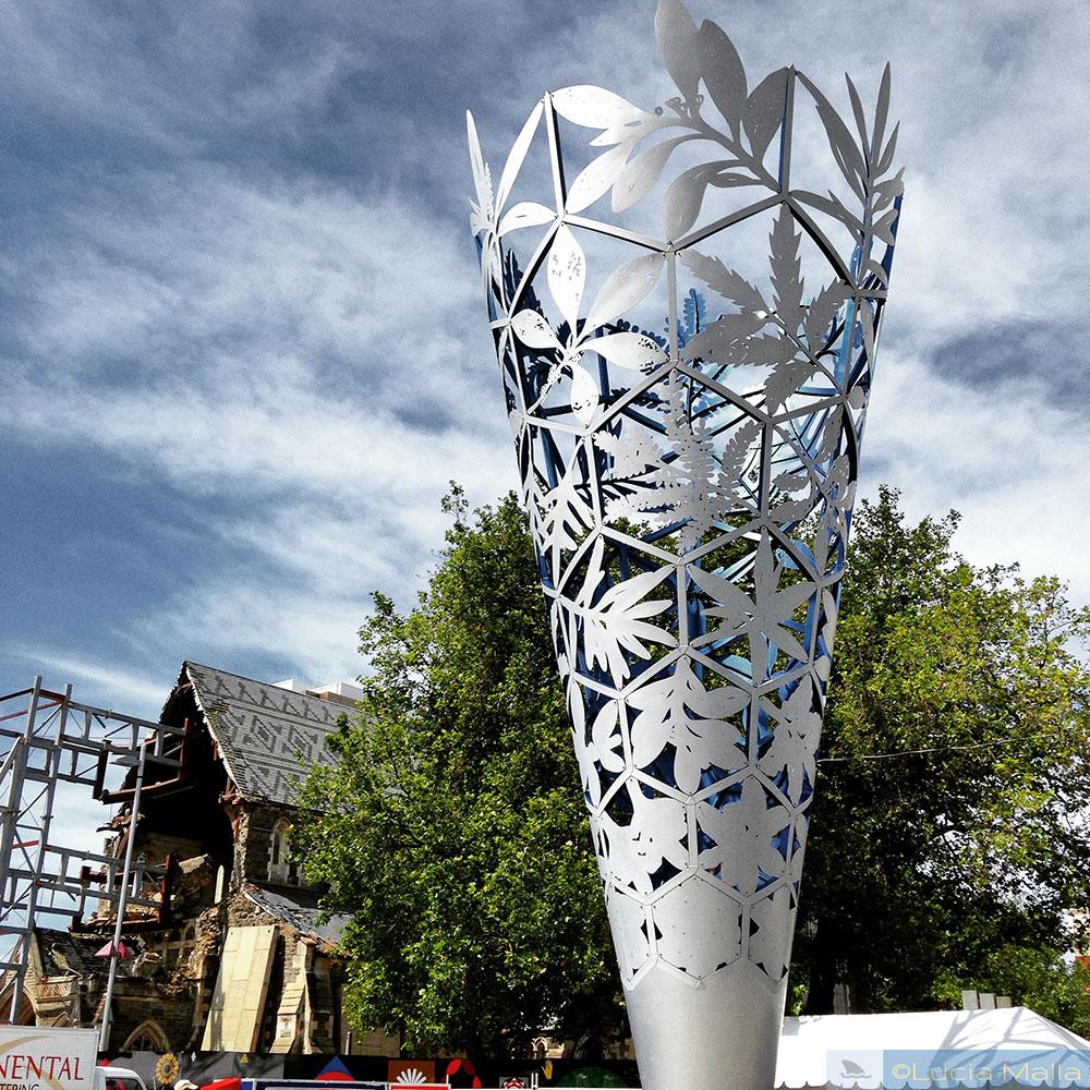 Roteiro Nova Zelândia em 12 dias - Escultura em Christchurch