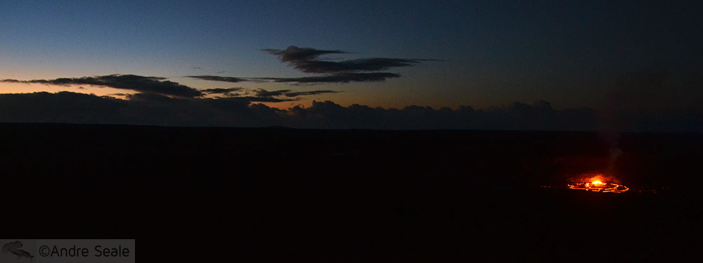 Erupção do Kilauea - Cratera Halemaumau