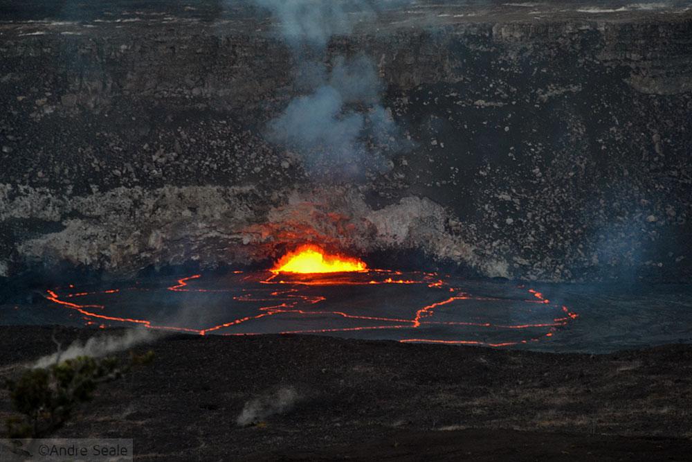 Lava do vulcão Kilauea - Big Island - Havaí