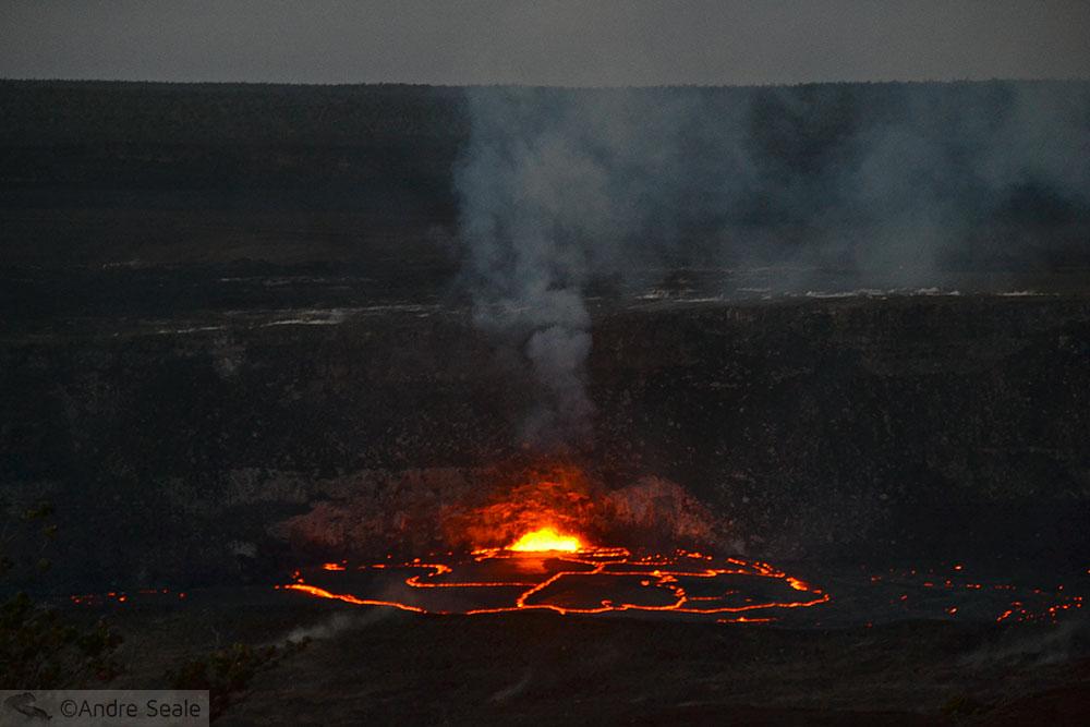 Cratera do vulcão Kilauea - 2015 - Havaí