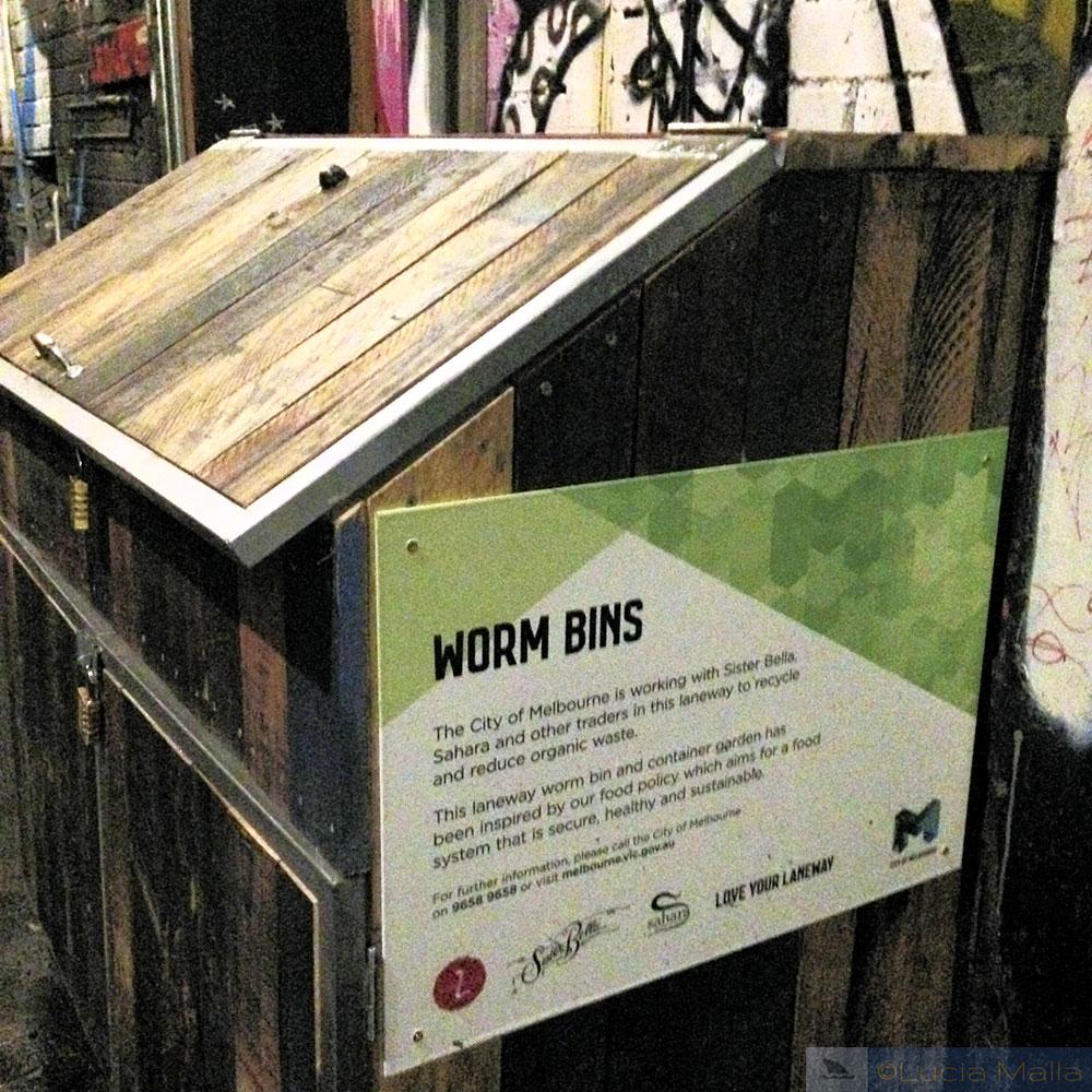 Roteiro em Melbourne - compostagem na rua