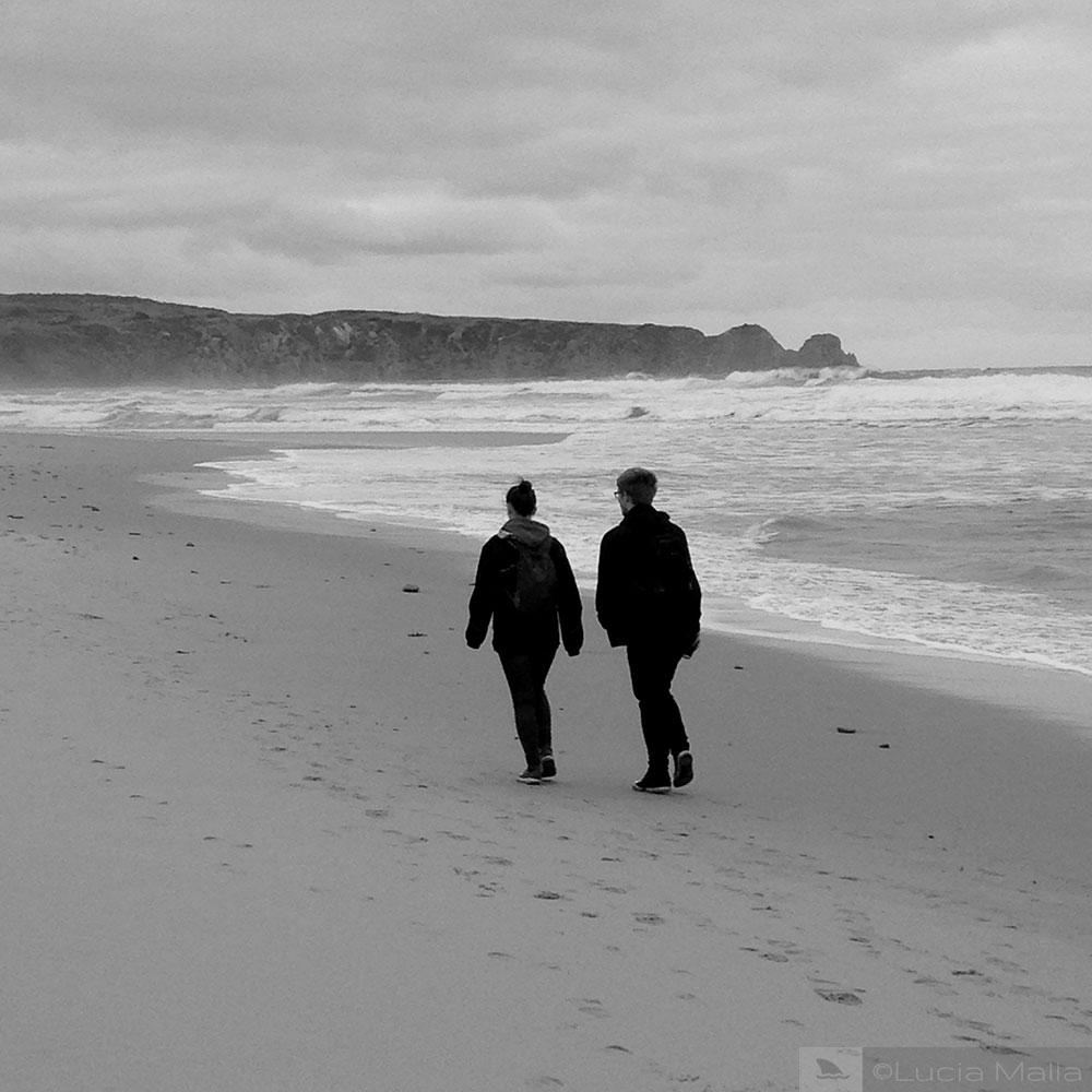 Praia com frio
