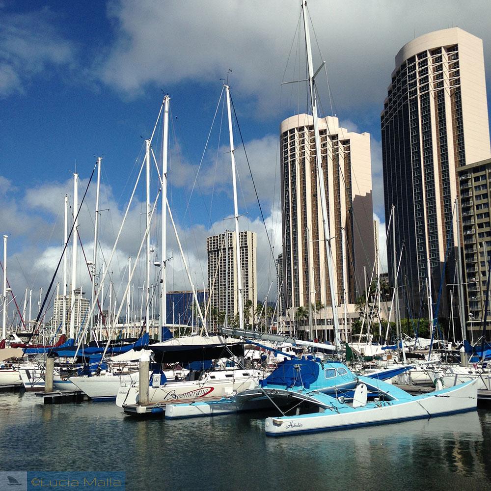 Guia de hotel em Oahu - marina de Waikiki
