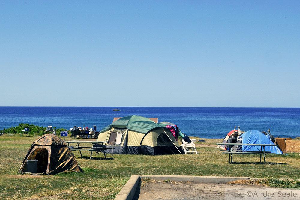 Camping em Oahu