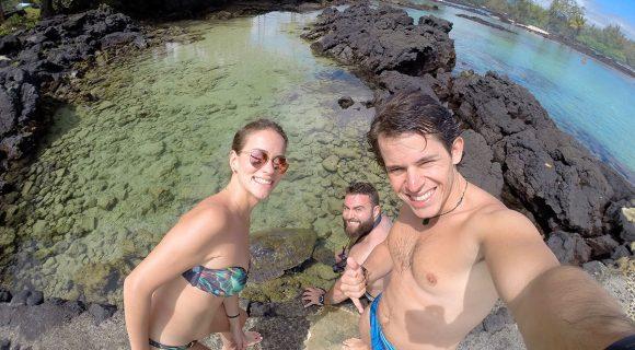 O Havaí do Leandro em Carlsmith Beach