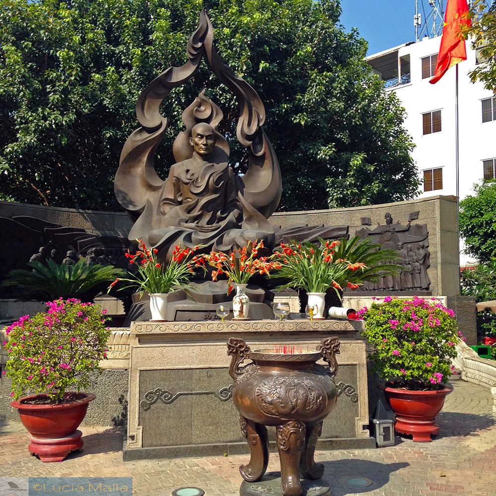 Monumento a Thich Quang Duc - um pedaço de Saigon