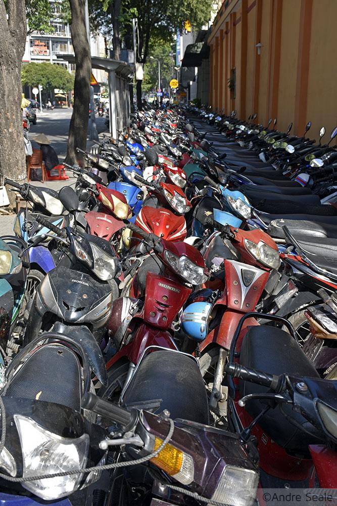Motocicletas em Ho Chi Minh City
