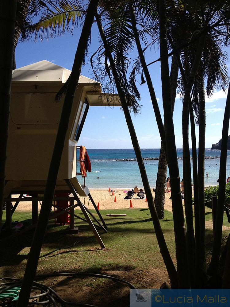 Posto de salva-vidas em Hanauma Bay - Oahu - Havaí
