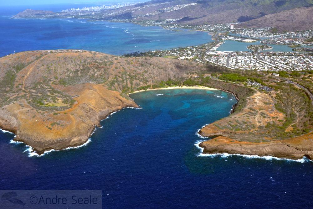 Vista aérea - Hanauma Bay - Oahu - Havaí