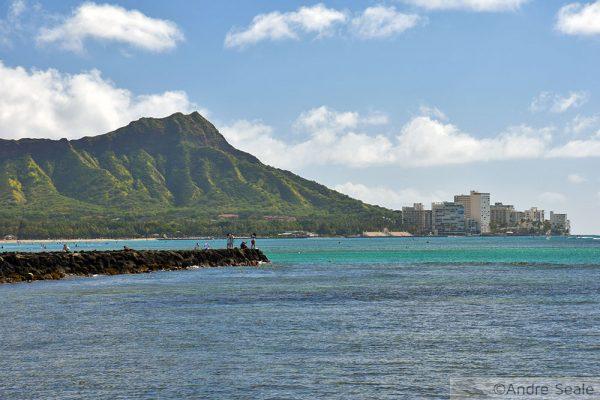 Elevaçãos dos Mares em Waikiki