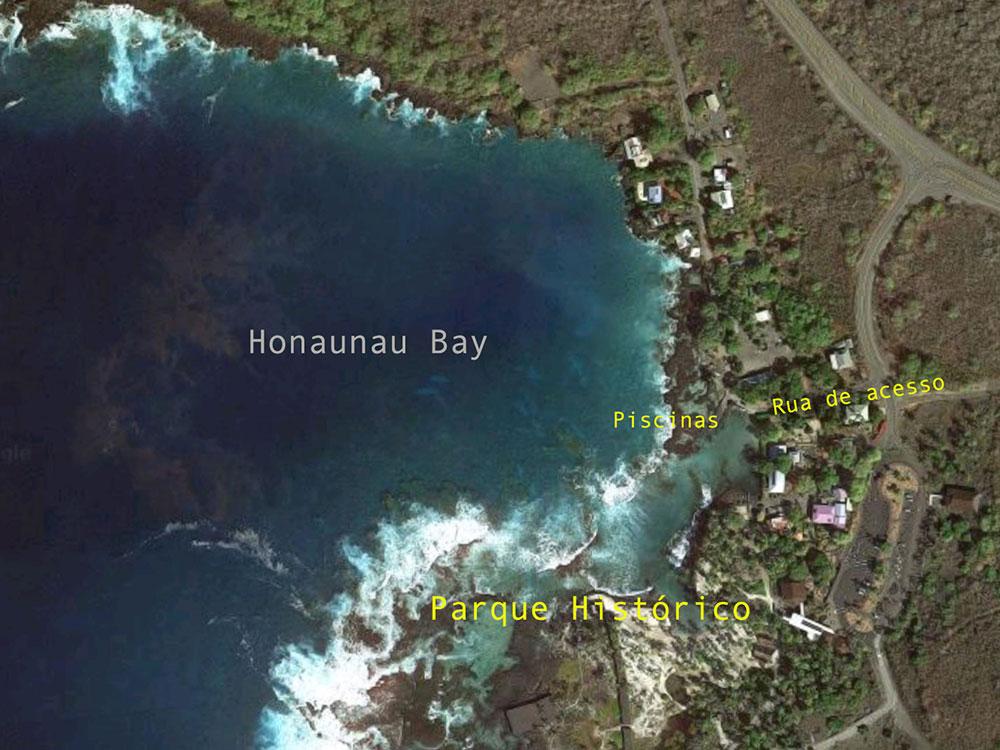 Mapa de Honaunau Bay - Big Island