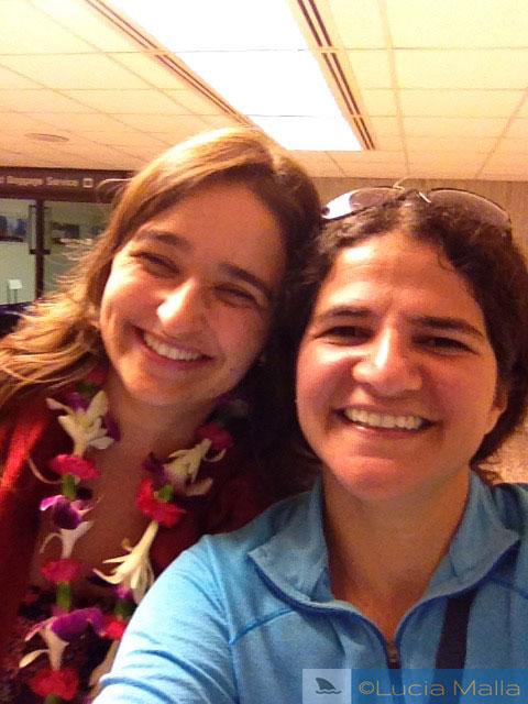 Lei para os amigos no aeroporto - Havaí