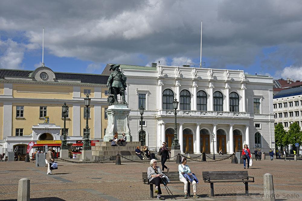 Praça Gustaf Adolf - Roteiro em Gotemburgo -Suécia