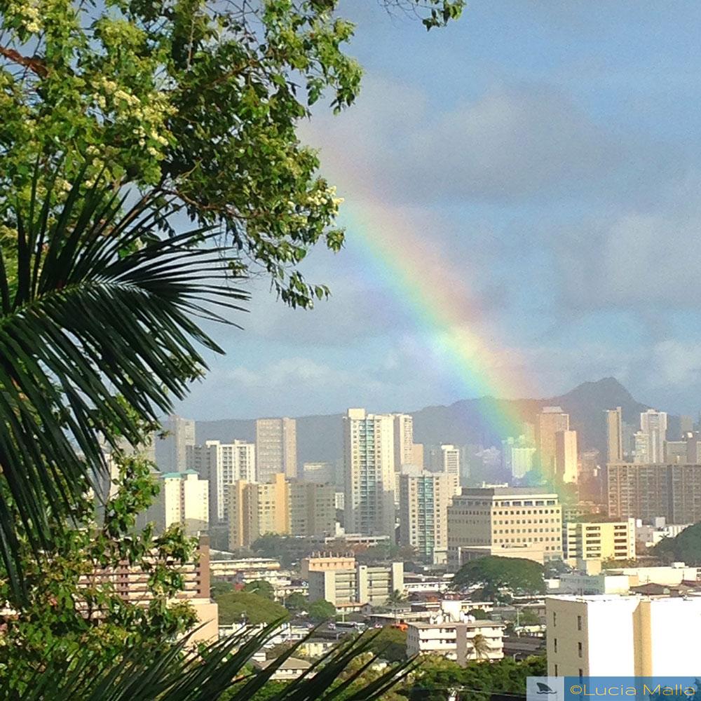 Arco-íris em Honolulu - Havaí