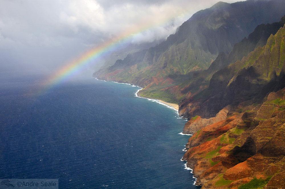 arco-íris - Na Pali Coast - Kauai