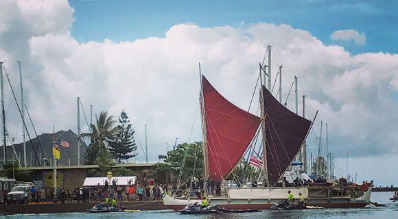 Hōkūle'a de volta ao lar