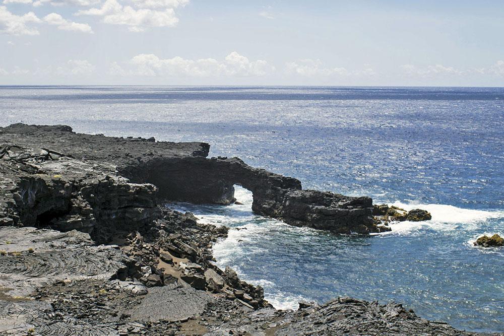 Arco de lava - trilha de Ka'aha
