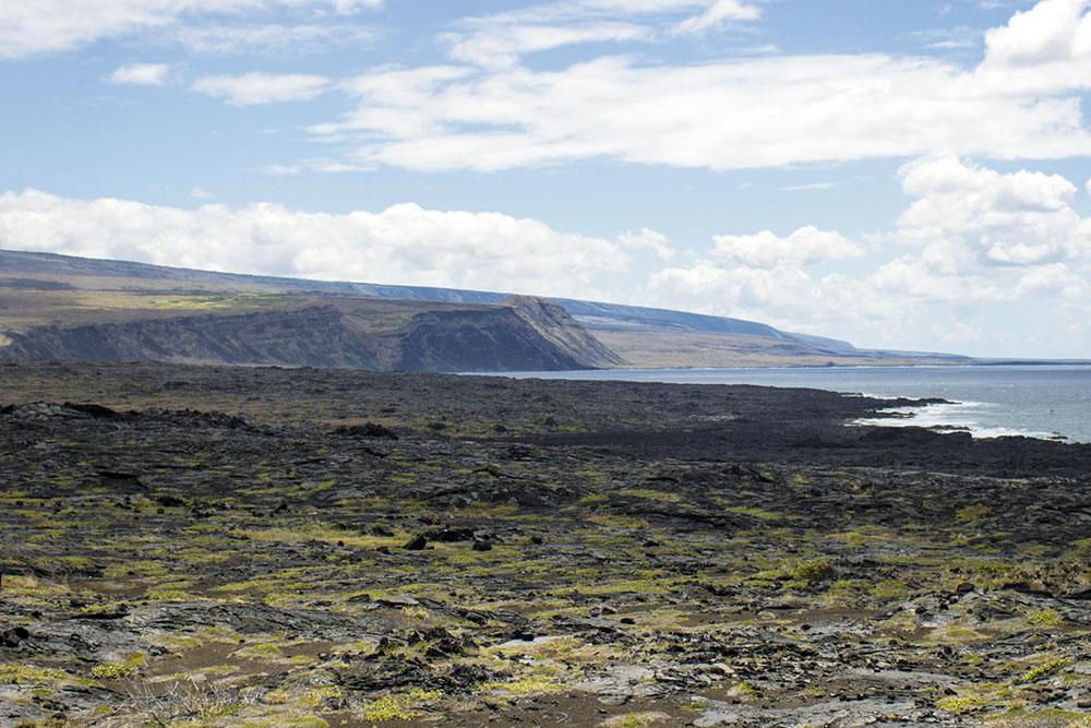 Trilha de Ka'aha perto da costa