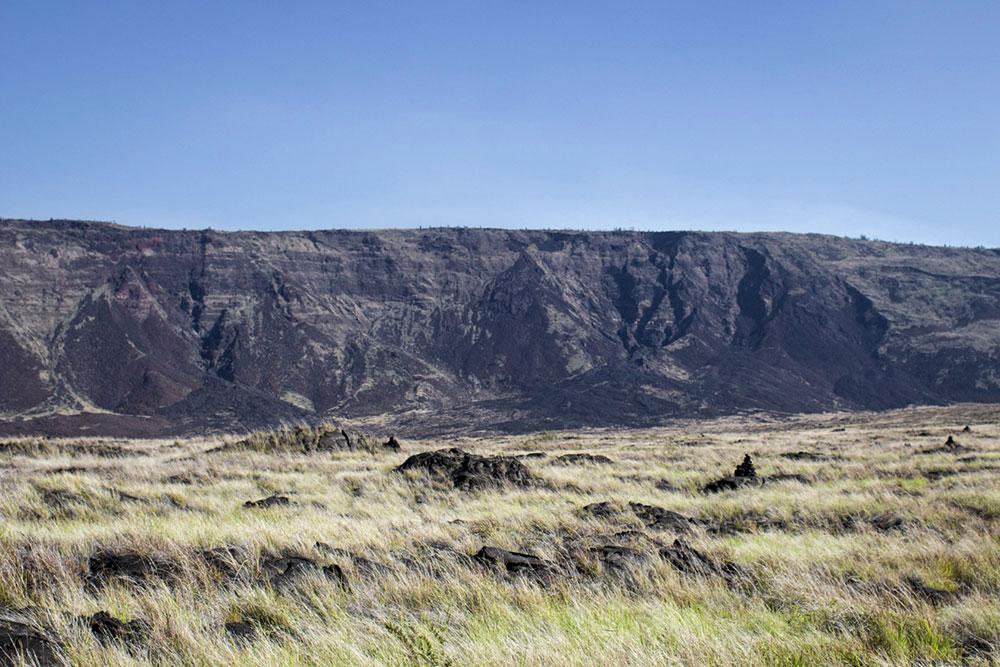 Encosta do Hilina Pali - Parque Nacional dos Vulcões do Havaí