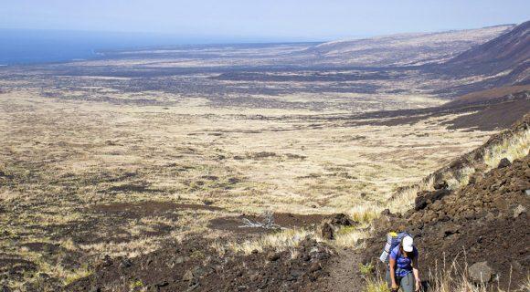 Trilhas de Ka'aha e Pepeiao no Parque Nacional dos Vulcões