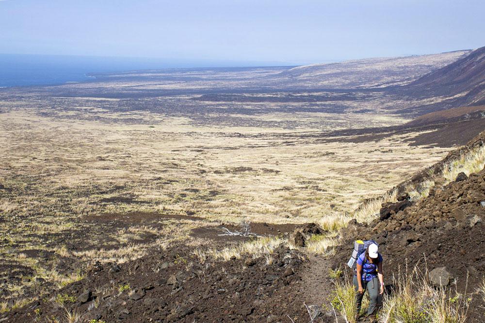 Subida do Hilina Pali - Big Island - Havaí