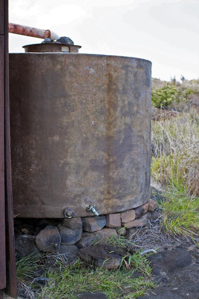 Tanque de coleta de água