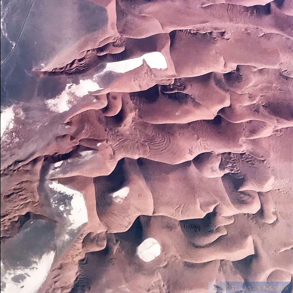 Hiddenvlei e Deadvlei - vista aérea - Deserto da Namíbia