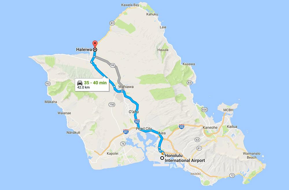 Mapa de Oahu