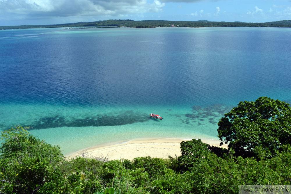 Praia de Nukuatea vista de cima
