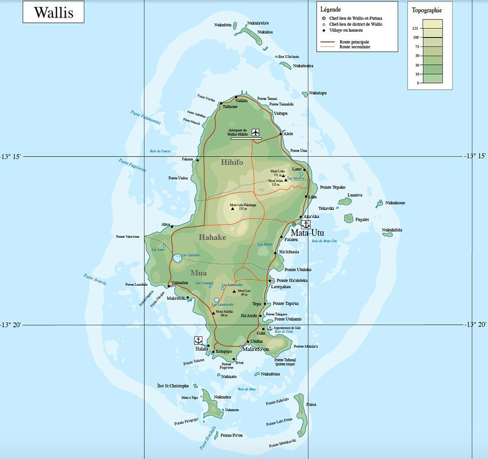 Mapa de Wallis Island