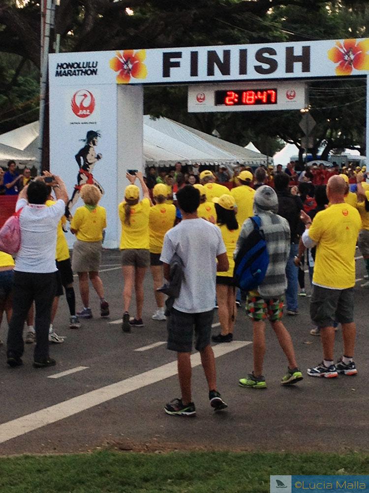 Maratona de Honolulu - Linha de chegada