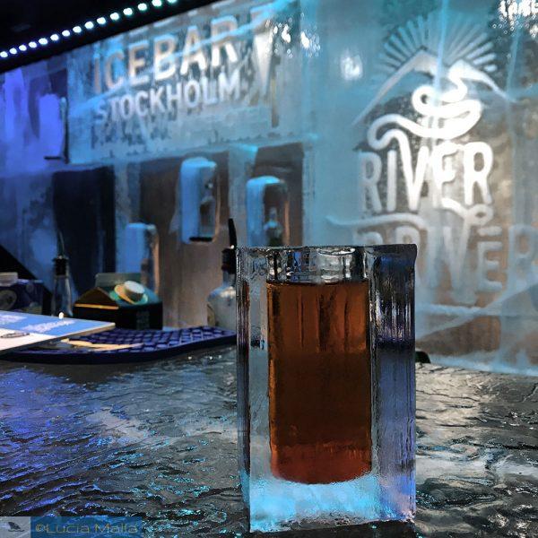 Drink do Ice Bar de Estocolmo