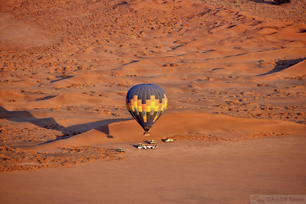 Balão na Namíbia - 14 anos da Malla