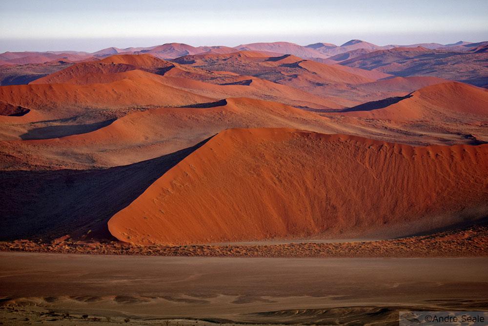 Dunas do deserto da Namíbia - Parque Nacional do Sossusvlei