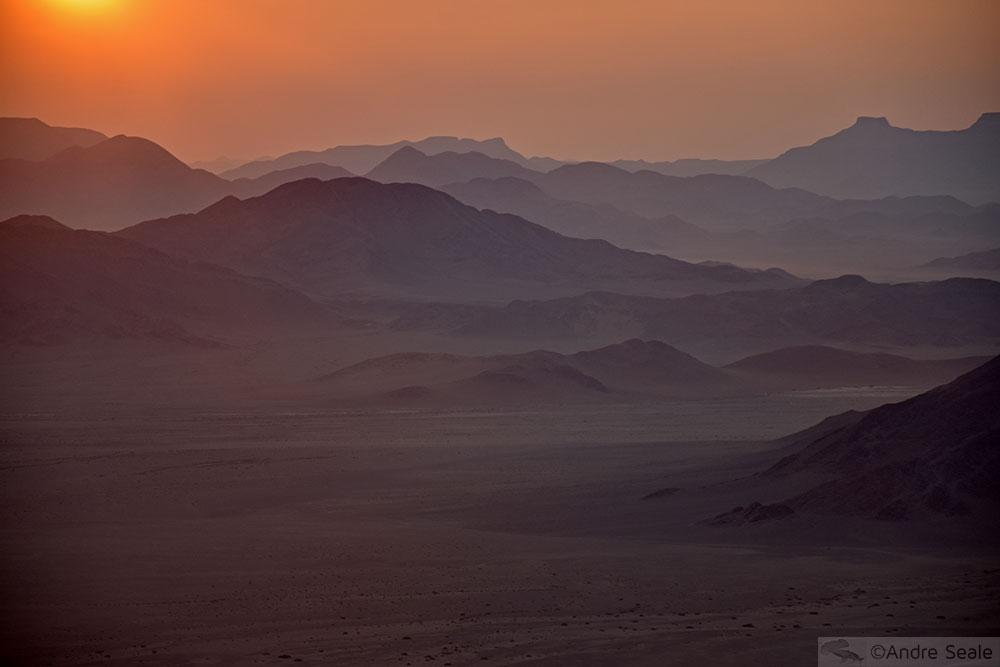 Amanhecer no deserto da Namíbia